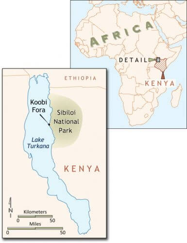 Hlubik's fire research focuses on Koobi Fora, an area in Kenya where reddened patches of soil that look similar to the aftermath of human campfires have been found underneath the surface at one of the archaeological sites.