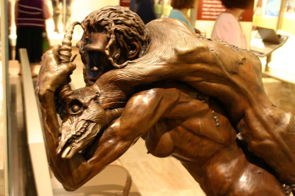 A depiction of Homo erectus by paleoartist John Gurche