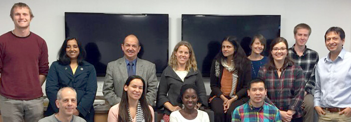 The Global Women's Health Technology Lab at a meeting with potential collaborators