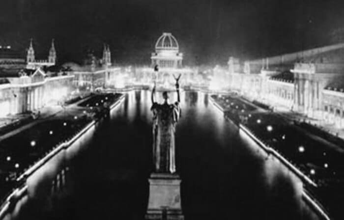 AC electric lights at the Chicago World's Fair.