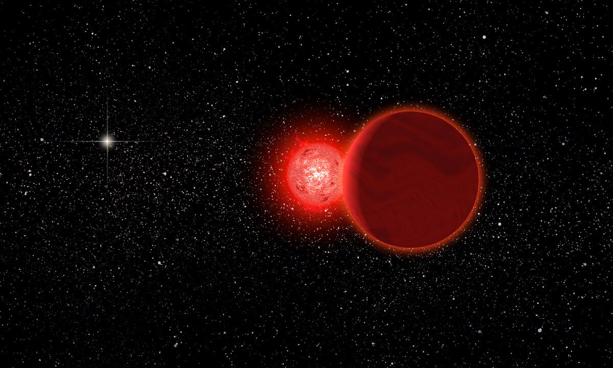 Schols's star, an artist's conception