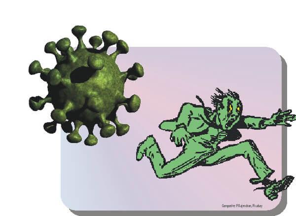Fleeing the virus
