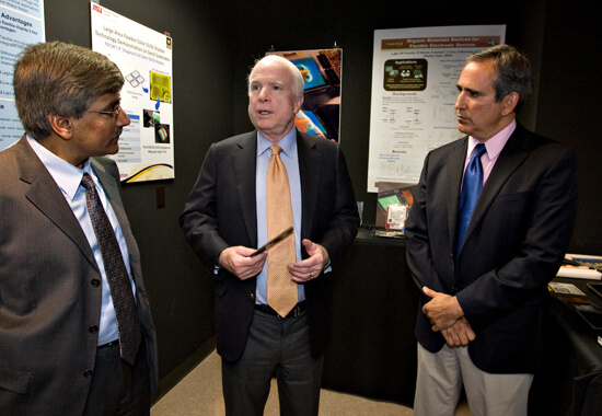 Dr. Panch with Senator John McCain.