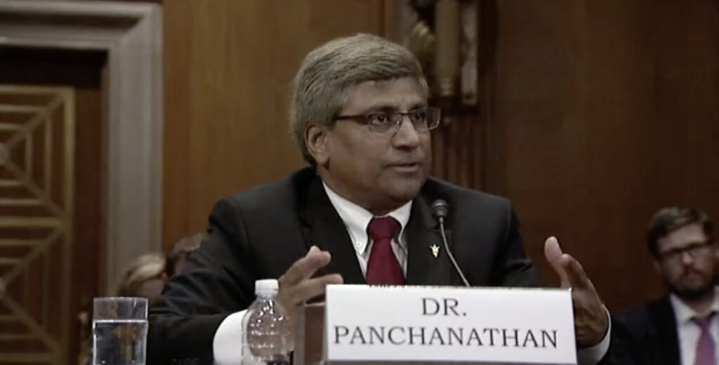 Dr. Panch speaking before a Senate subcommittee