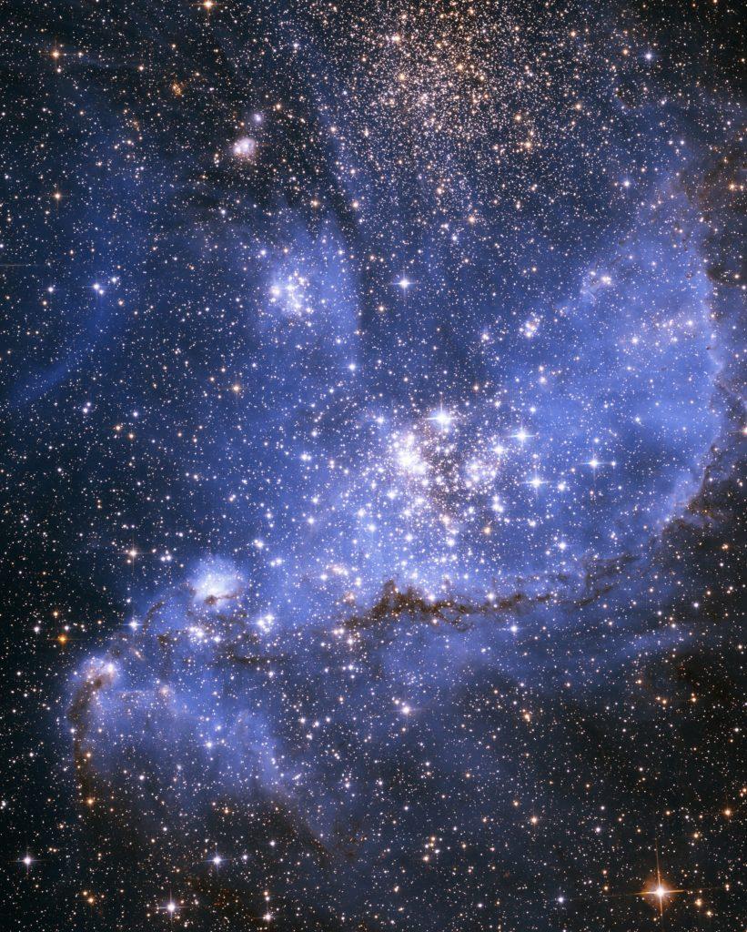 A stellar nursery in nebula NGC 346
